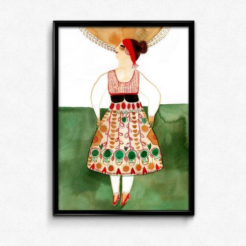 Ilustração . Art print Folclore