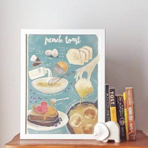 Receita ilustrada de Tostas francesas