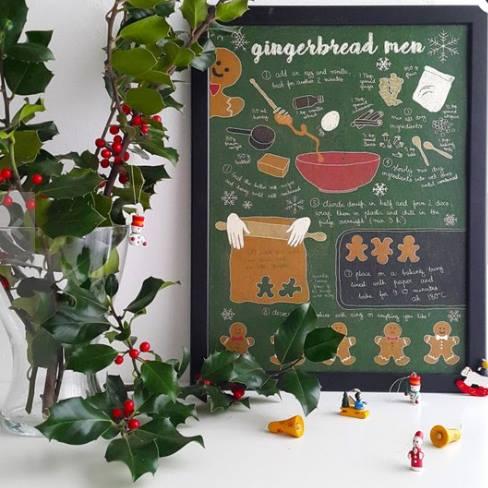 Receita ilustrada de Gingerbread men