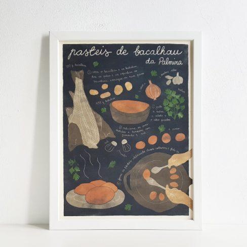 Receita ilustrada de Pastéis de bacalhau
