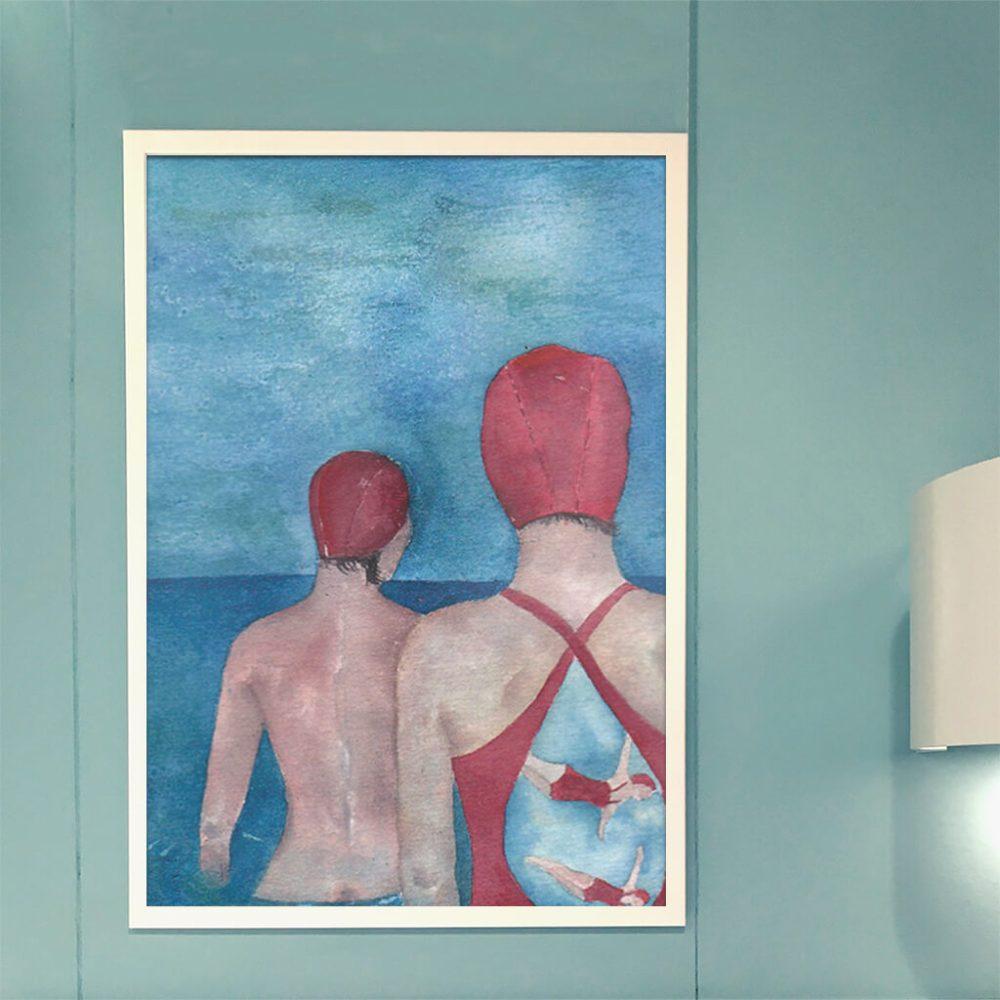 Art print 'Swimmers . Juntos'