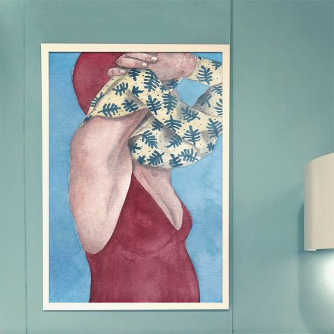 Art print 'Swimmers . Undress'