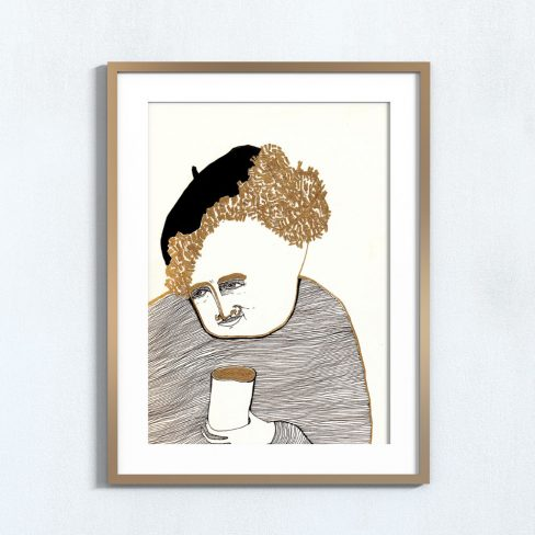 Ilustração Copo de ouro . Art print Mirjam Siim