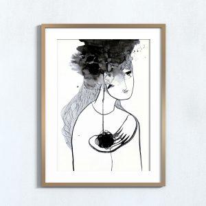 Ilustração Fio do pensamento . Art print Mirjam Siim