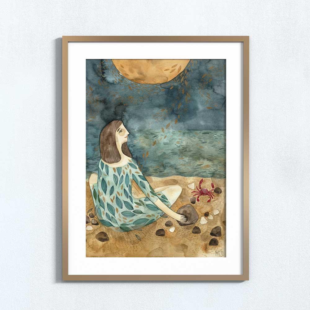 Ilustração art print 'O sol e a lua'