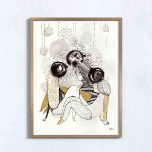Ilustração . Art print