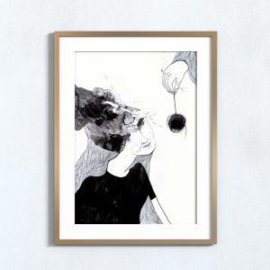 Ilustração Hipnótico . Art print