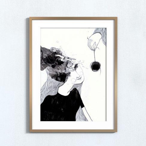 Ilustração Hipnótico . Art print Mirjam Siim