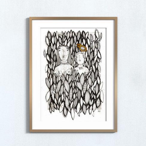 Ilustração Ilha . Art print Mirjam Siim