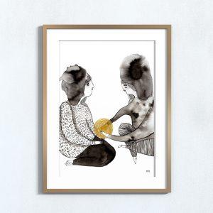 Ilustração . Art print Mirjam Siim