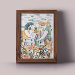 Ilustração 'Criar um lar'de Mirjam Siim