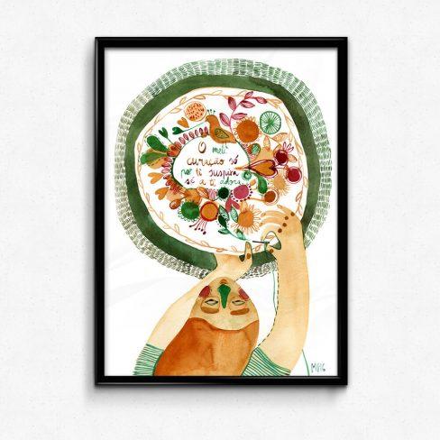 Ilustração Lenço dos namorados . Art print Mirjam Siim