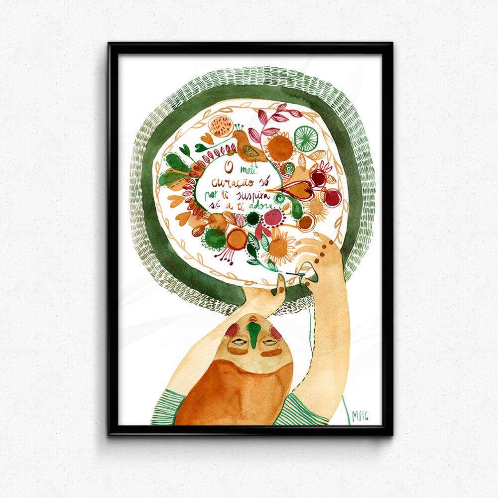 Ilustração Lenço dos namorados . Art print