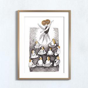 Ilustração Yoga . Art print