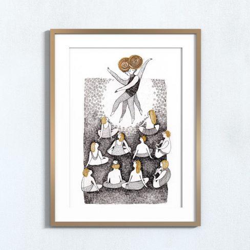 Ilustração Yoga . Art print Mirjam Siim