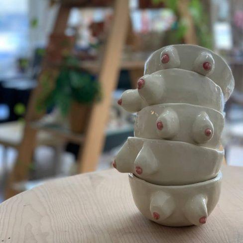 Tacinhas em cerâmica