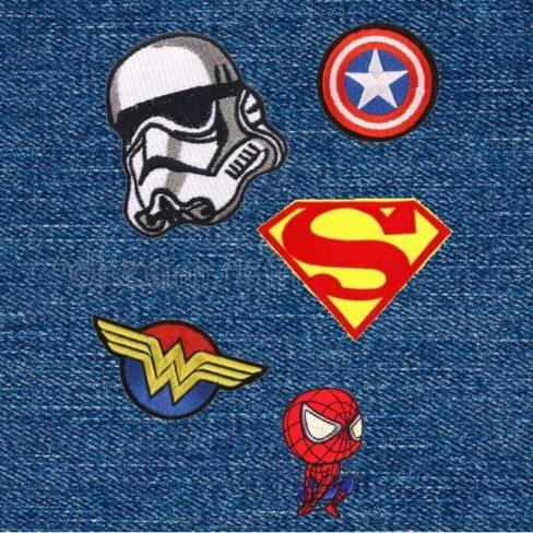 Apliques super heróis