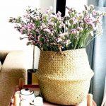 Cesta / Vaso cachepô de junco