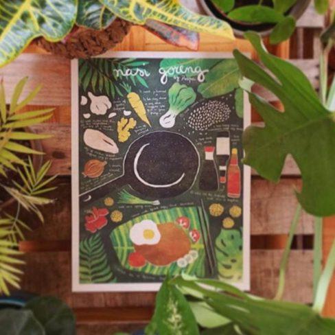 Ilustração da receita de Nasi goreng
