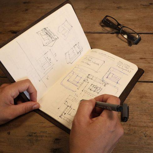 Capa de proteção em couro para cadernos - Incluí 1 caderno MOLESKINE®
