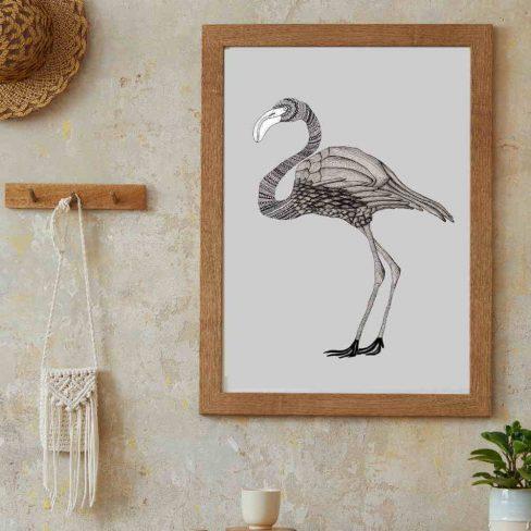 Ilustração Flamingo