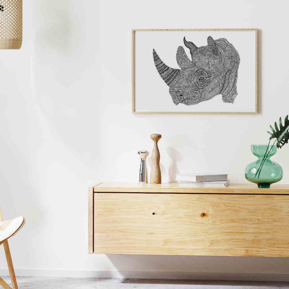 Ilustração Rinoceronte