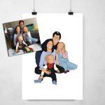 Desenho personalizado Família