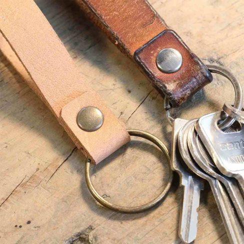 Porta-chaves em pele